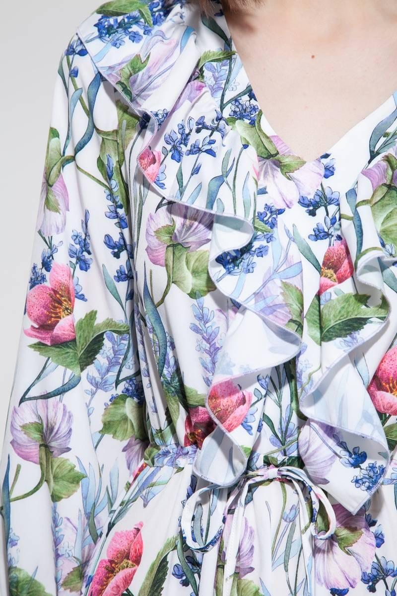 Платье мини с воланами Floral mood - THE LACE