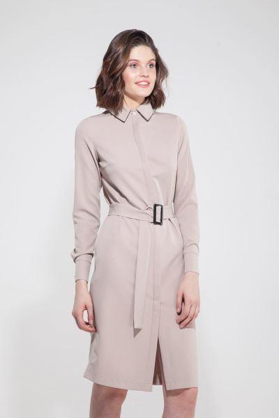 Платье-рубашка песочное - THE LACE