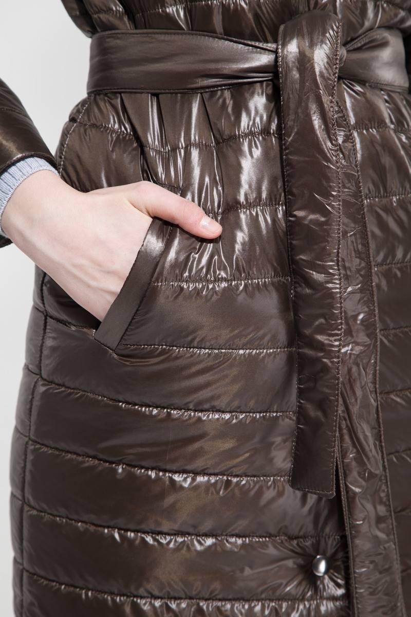 Пальто стёганое хаки - THE LACE