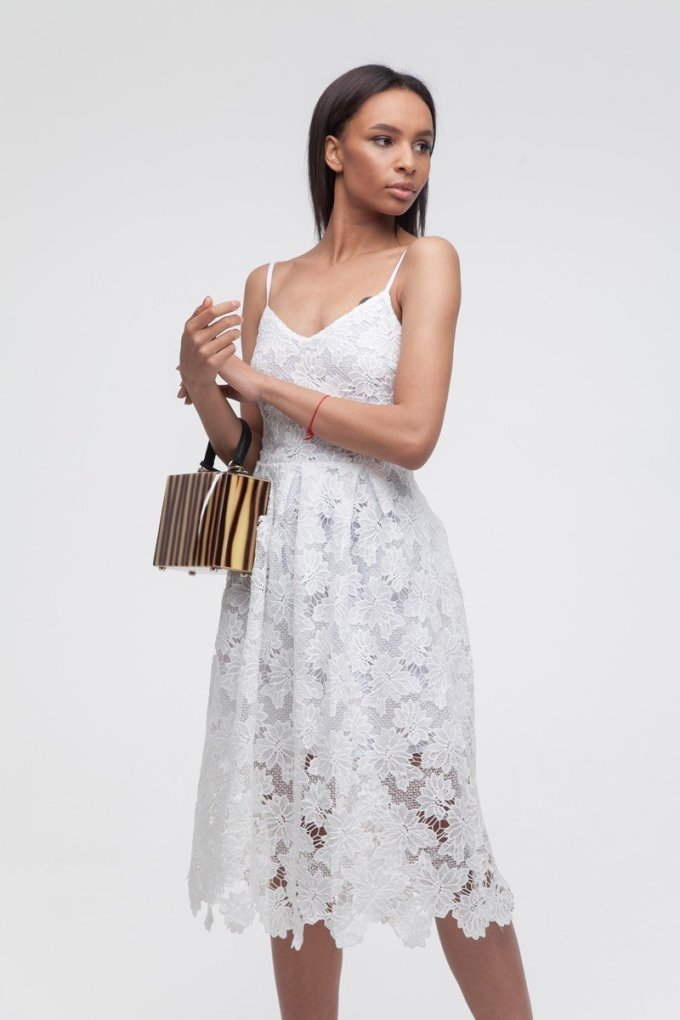 Платье кружевное белое - THE LACE