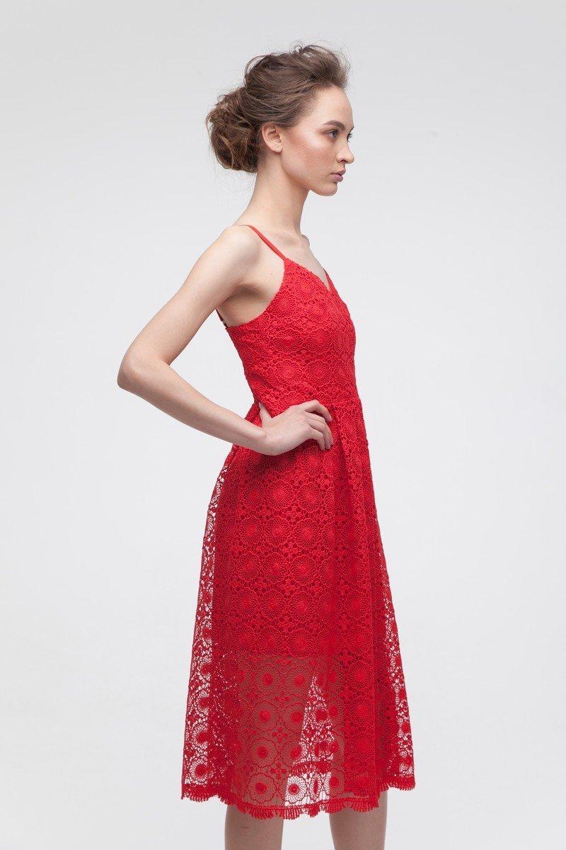 Платье кружевное красное - THE LACE