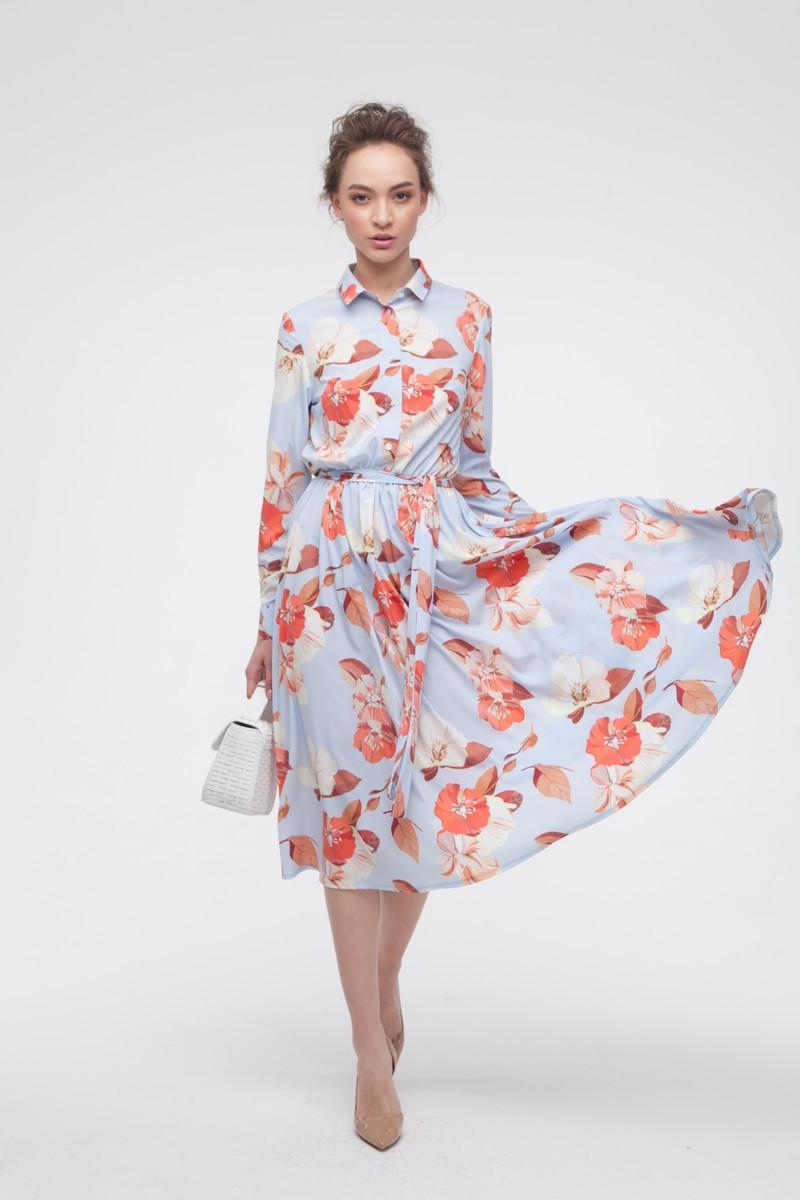 Платье миди с пышной юбкой Fancy Flowers — THE LACE