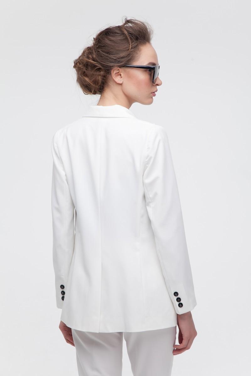 Жакет приталенный белый - THE LACE