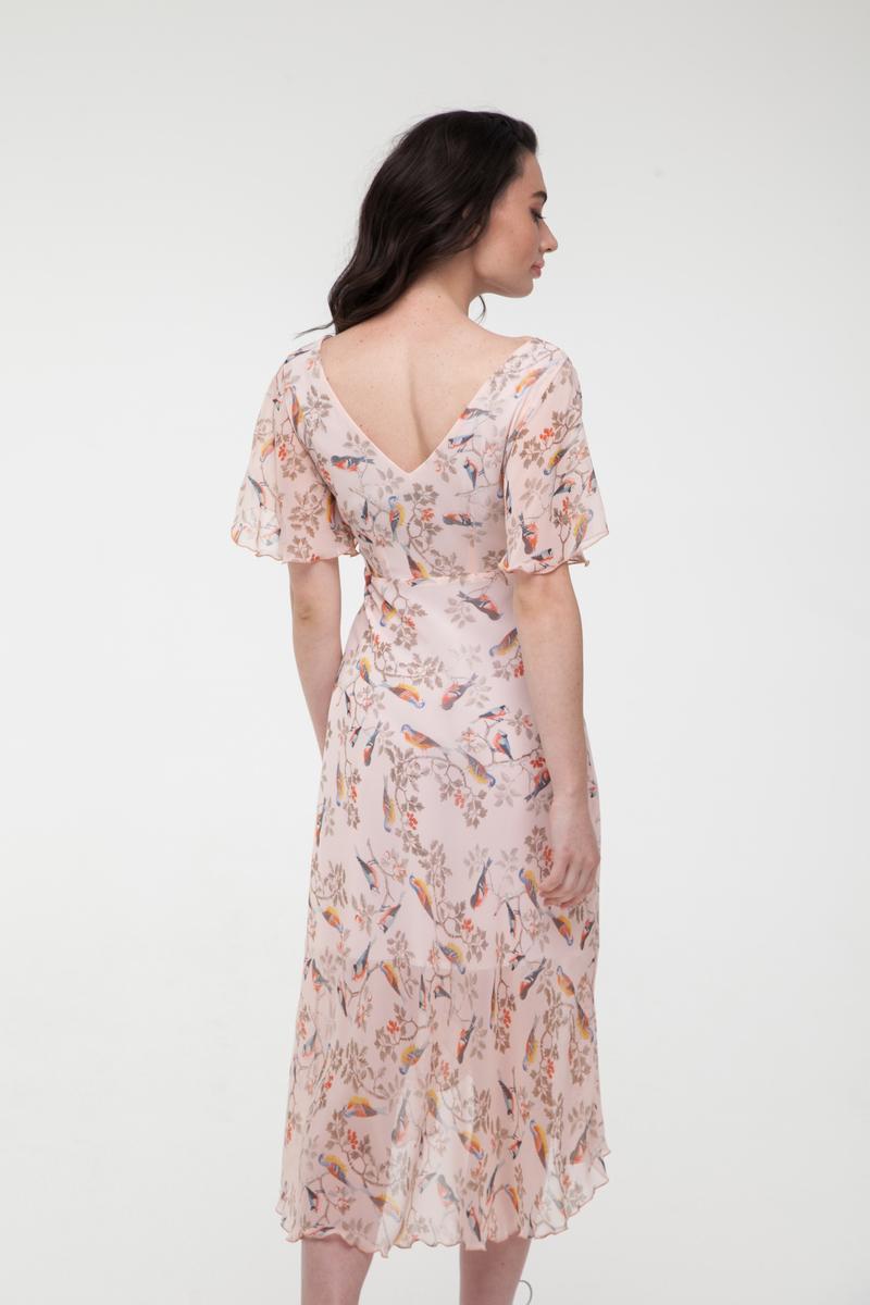 Платье миди Magic birds