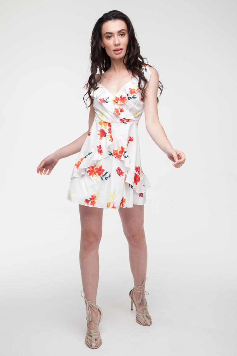 Платье мини белое Petit flor