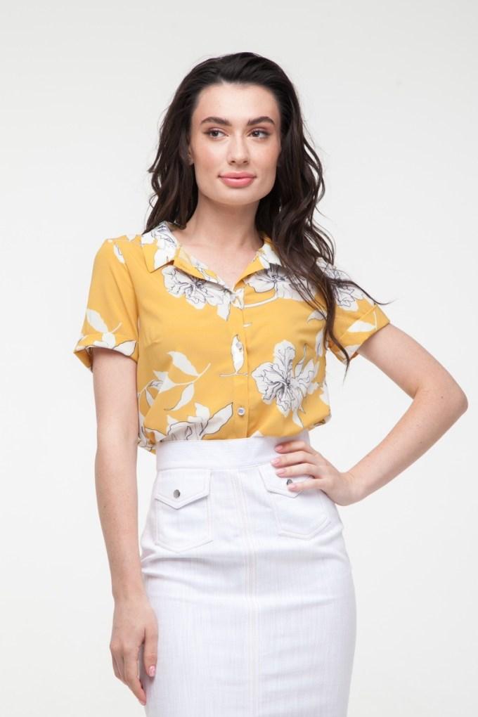 Блуза желтая Sunny flowers
