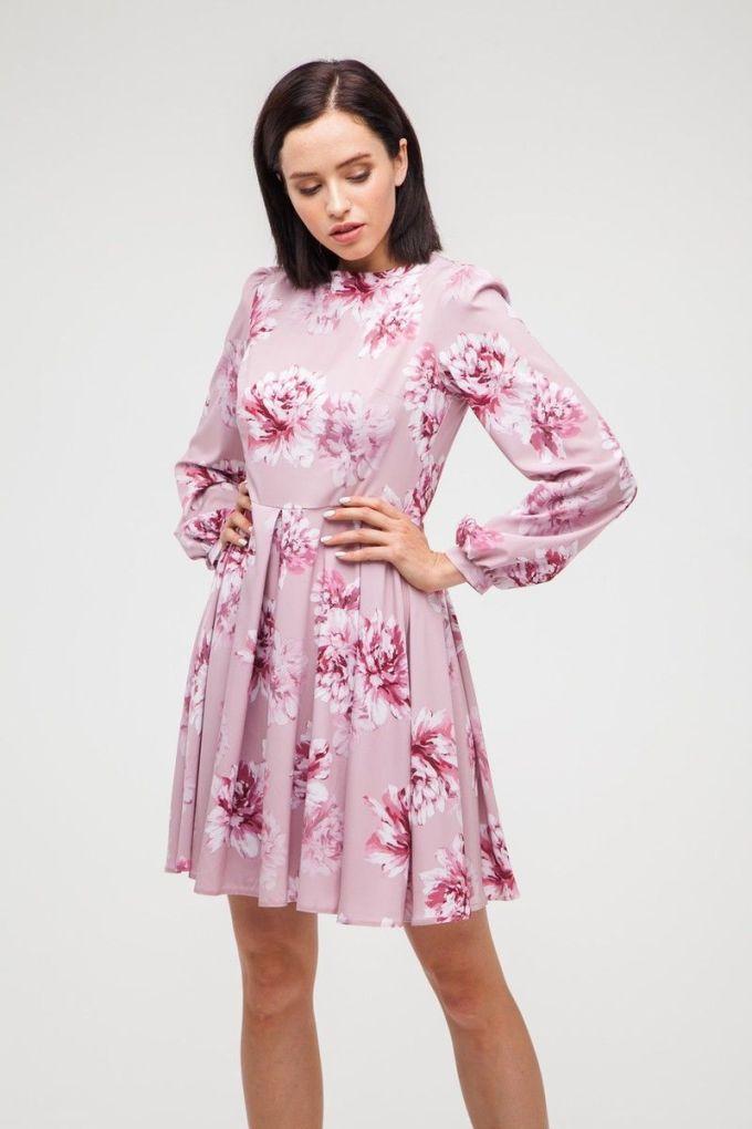 Платье мини со складкой Pink peony - THE LACE