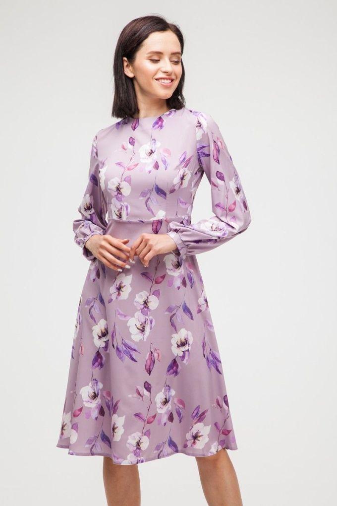 Платье миди Violet flowers - THE LACE