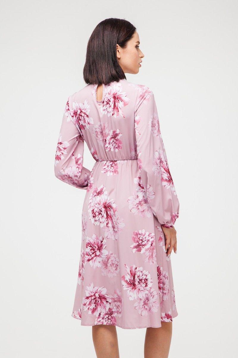Платье миди Pink peony - THE LACE