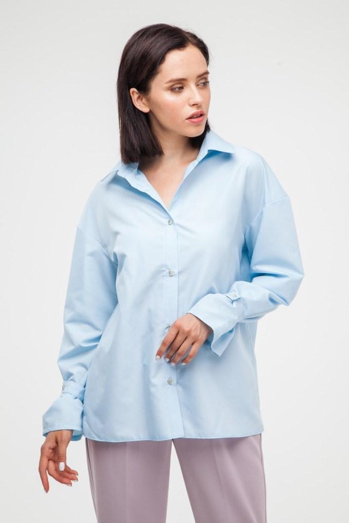 Рубашка oversize голубая - THE LACE
