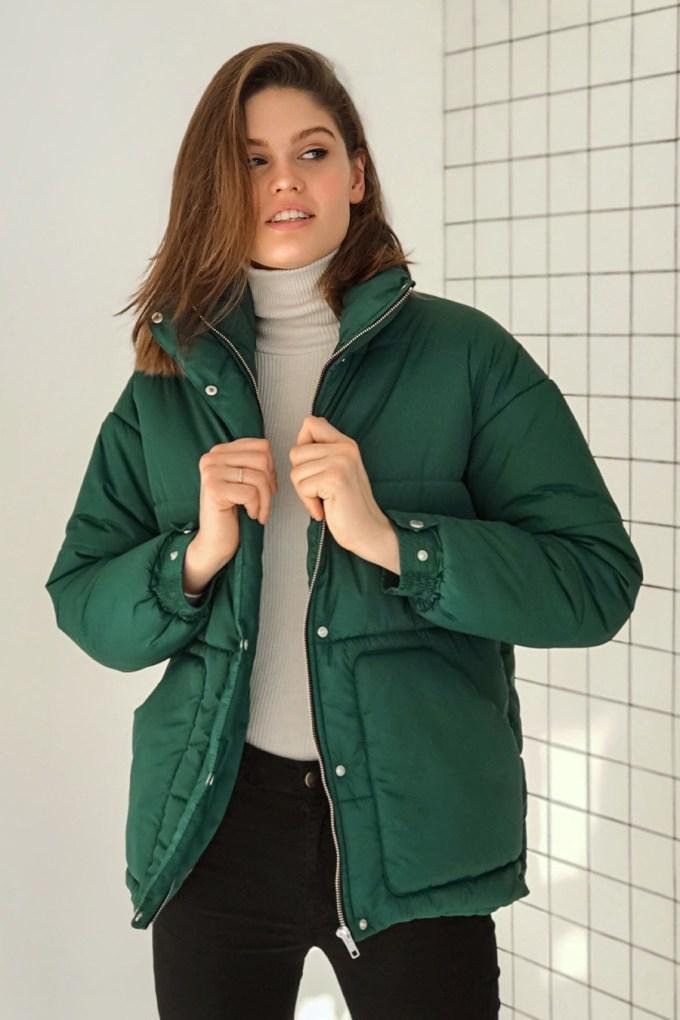 Куртка oversize изумрудная - THE LACE