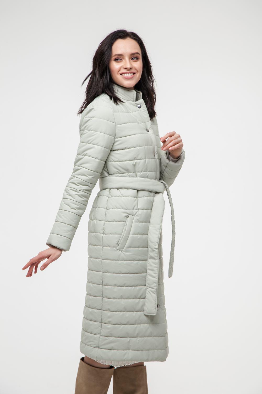 Пальто стеганое фисташковое - THE LACE