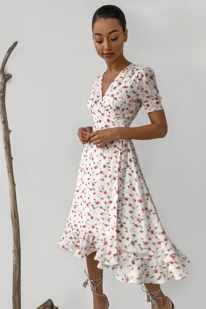 Платье миди с воланами Vintage flowers - THE LACE