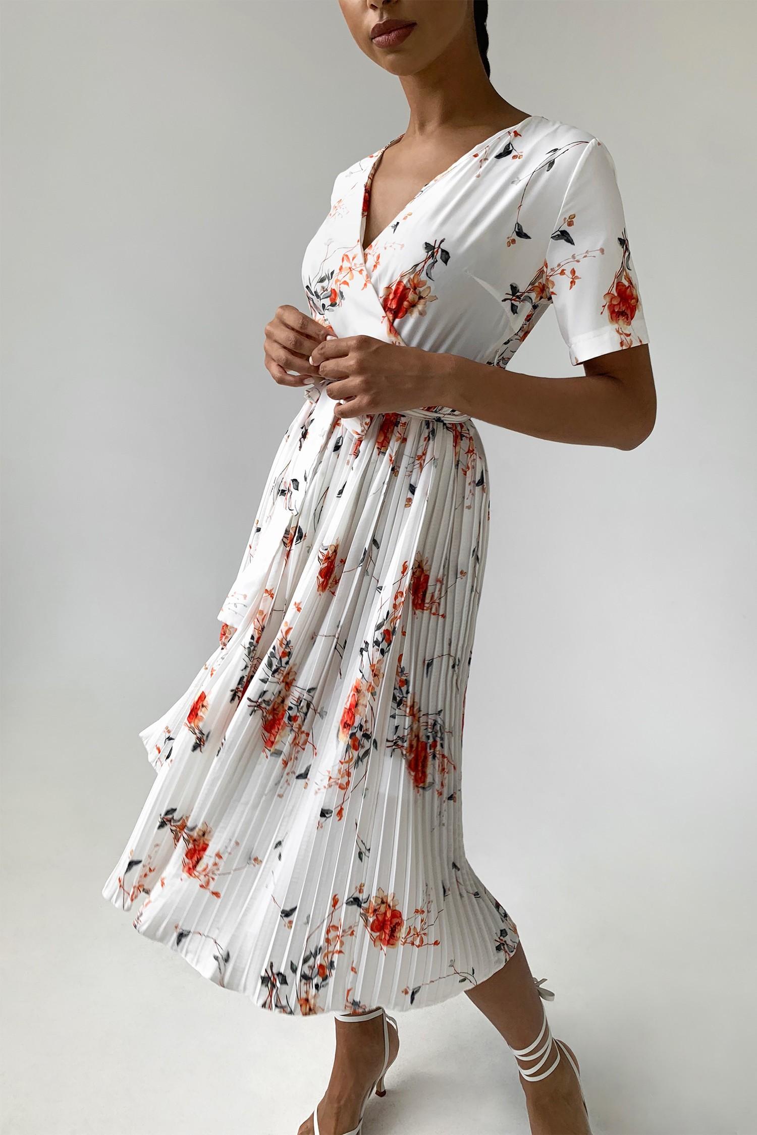 Платье миди с коротким рукавом Posh flowers - THE LACE