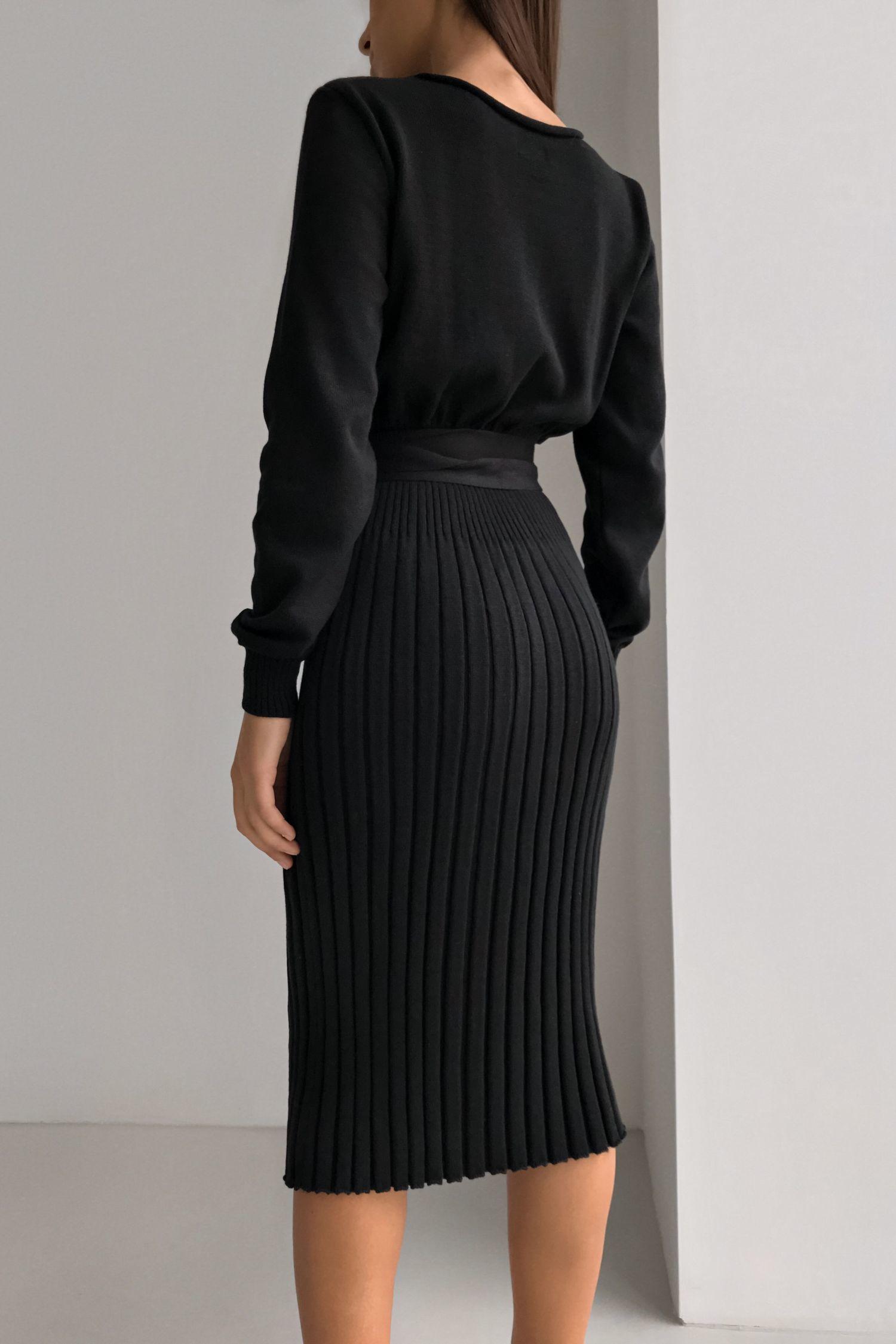 Сукня в'язана чорна - THE LACE