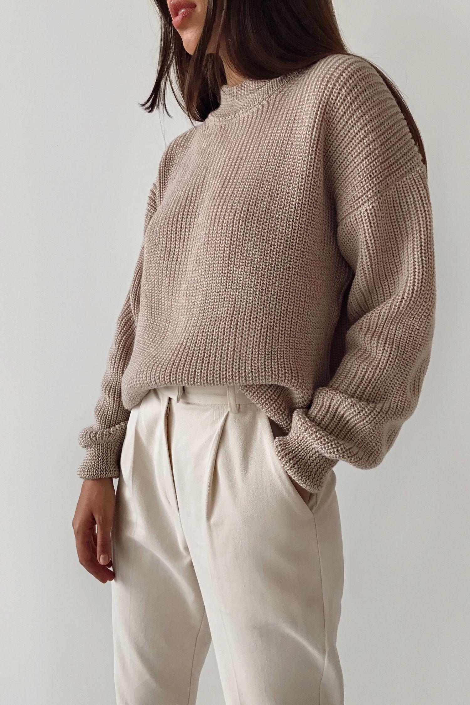 Шерстяной свитер бежевый - THE LACE