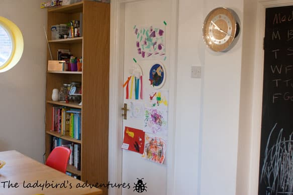 Toddler art work, beauty and catching up #littleloves