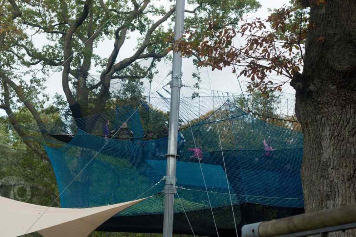 Brockhole treetop nets