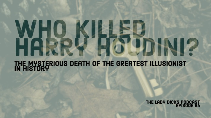 Title card for who killed harry houdini