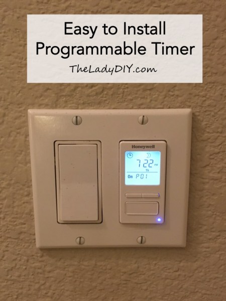 "Title page for blog post ""Easy to Install Programmable Timer."""
