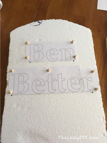 Tutorial for inexpensive DIY tombstones