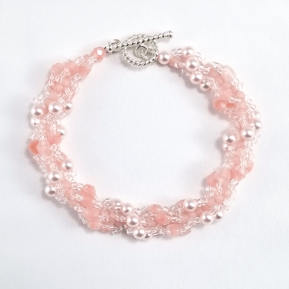 Peachy Pearly Pink bracelet