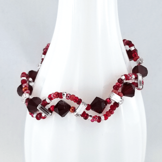 Red Meandering River bracelet