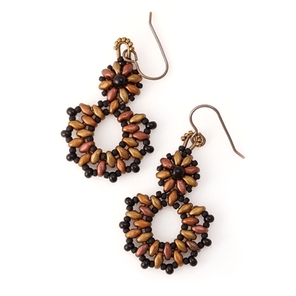 Bronze Daze earrings