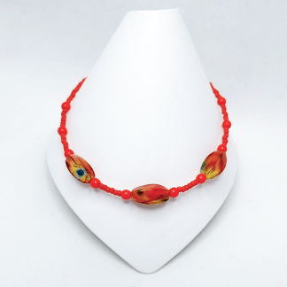 Red Swirl anklet