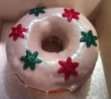 Christmas giant donut