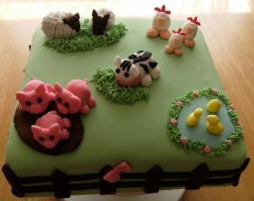 Farmyard celebration cake