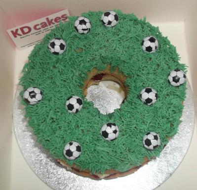 Football fan giant donut