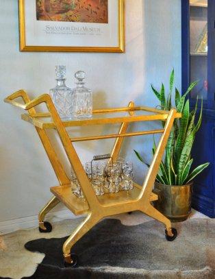 Modern Glam bar cart