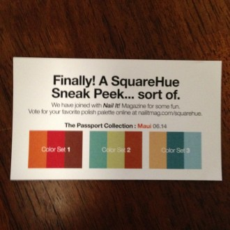 Boxed Subscription Review: Square Hue Nail Polish Subscription Box Review, April 2014 Unboxed!