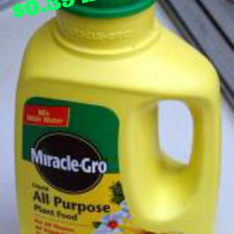 Ways To Stretch A Dollar: Homemade Liquid Miracle Grow Concentrate For $0.35 A Container!
