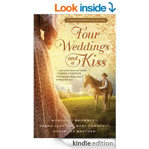Book Review: Four Weddings and a Kiss, By Margaret Brownley, Robin Lee Hatcher, Mary Connealy, and Debra Clopton