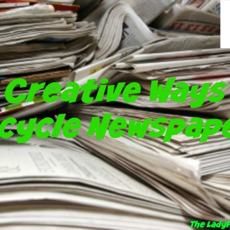 Greener Living Tips: 10 Creative Ways To Recycle Newspaper!