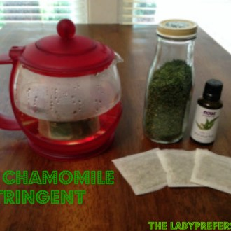 Beauty On A Budget: DIY Chamomile-Mint Astringent!