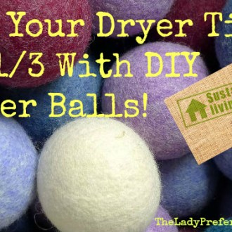 Greener Living Tips: Cut Your Drying Time By 1/3, With DIY Dryer Balls!
