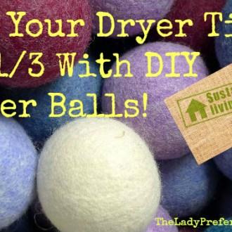 DIY Dryer Balls!