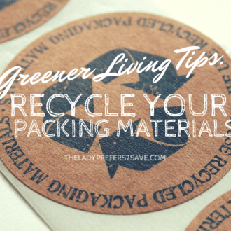 Greener Living Tips: Recycle Your Received Packaging Materials!