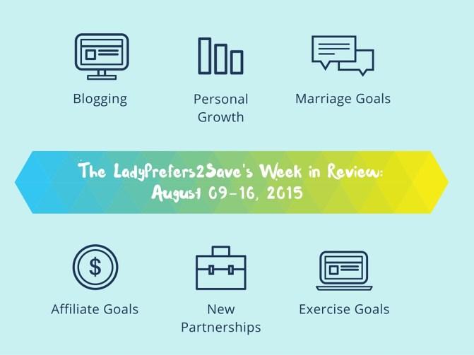August 16-22, 2015 Goals