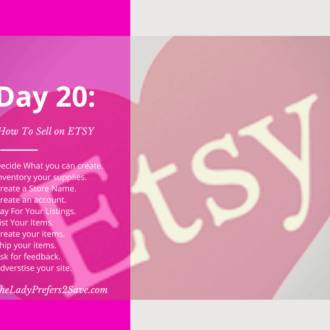August No Spend Month Challenge Day 20: How To Sell On ETSY!