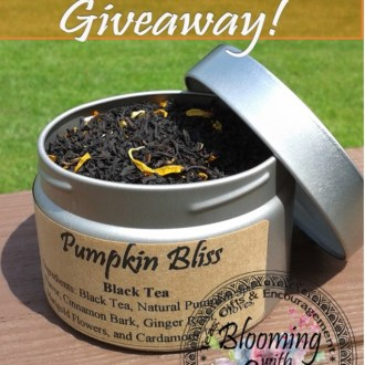 Pumpkin Tea Giveaway, from Blooming with Joy!