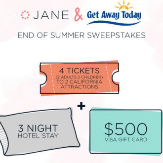 Jane.com: Enter to Win $500 Visa Card, 4 Tickets to 2 California Attractions!