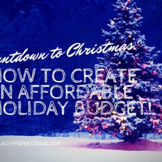 Countdown to Christmas: How I Re-Vamped My Holiday Budget