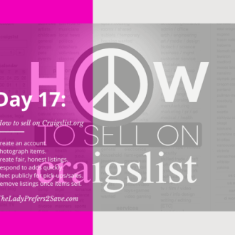 October No-Spend Month Challenge Day 17: How To Make Money Selling Your Stuff On Craigslist
