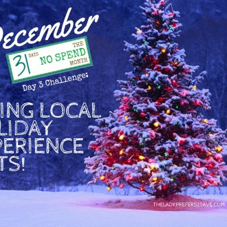 December No-Spend Month Day 3: Giving Local Experience Gifts!