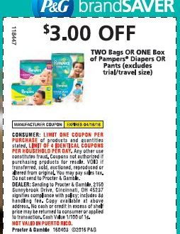 Checkout the New Pampers Savings in this Sunday's Paper (4/2/16)!
