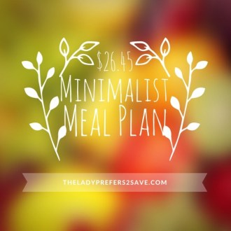 This Week's Minimalist Meal Plan